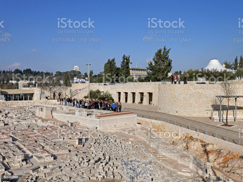 Model of biblical Jerusalem stock photo