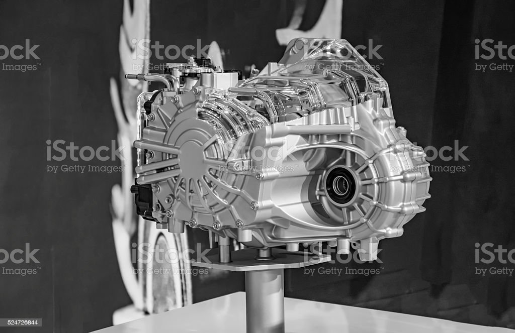 Model of car engine stock photo