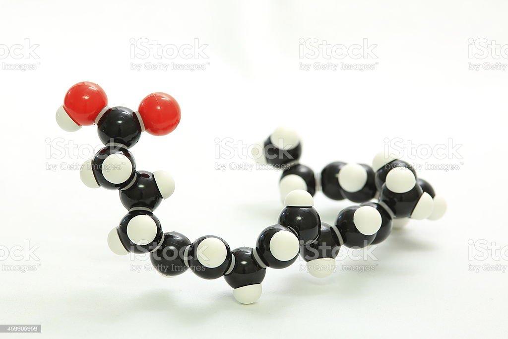Model of Eicosapentaenoic acid stock photo
