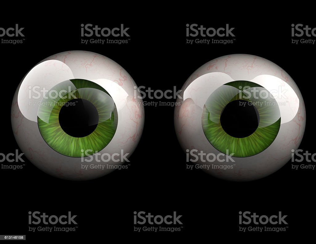 3D model of eyeballs stock photo