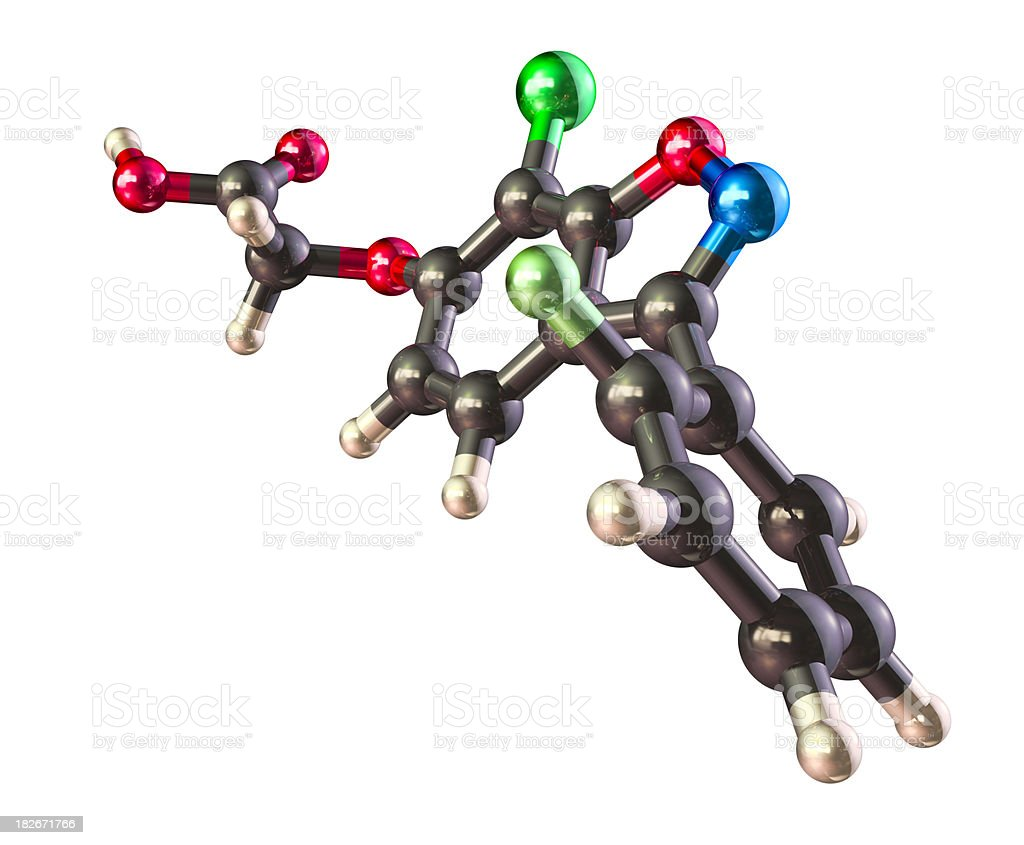 Model of Finasteride royalty-free stock photo