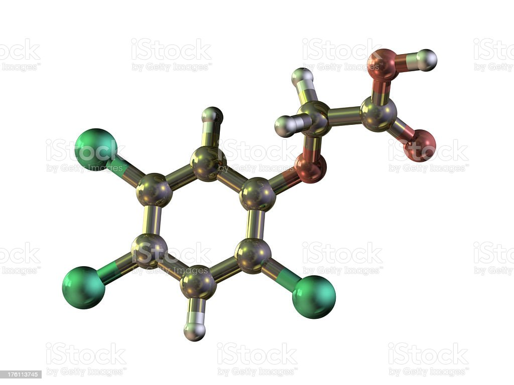 'Model of Herbicide 2,4,5-T' stock photo