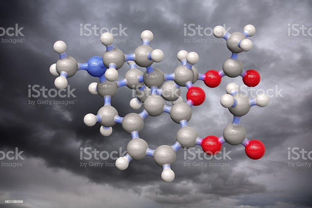 Model of Heroin stock photo