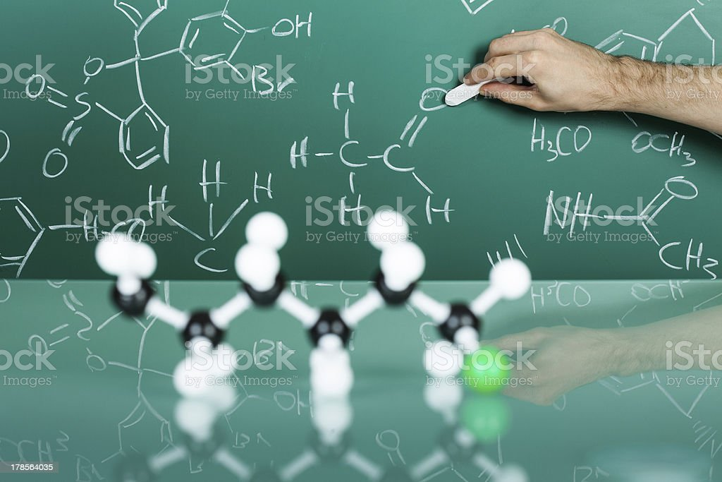 Model of molecular structure royalty-free stock photo