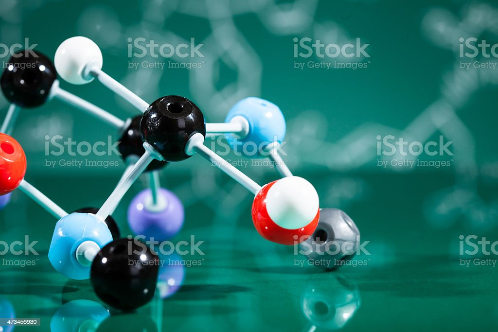 Model of molecular structure stock photo