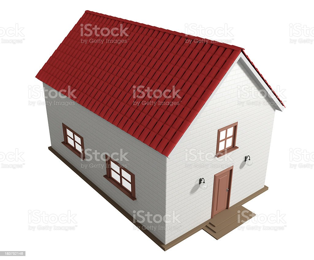3D model of new house stock photo