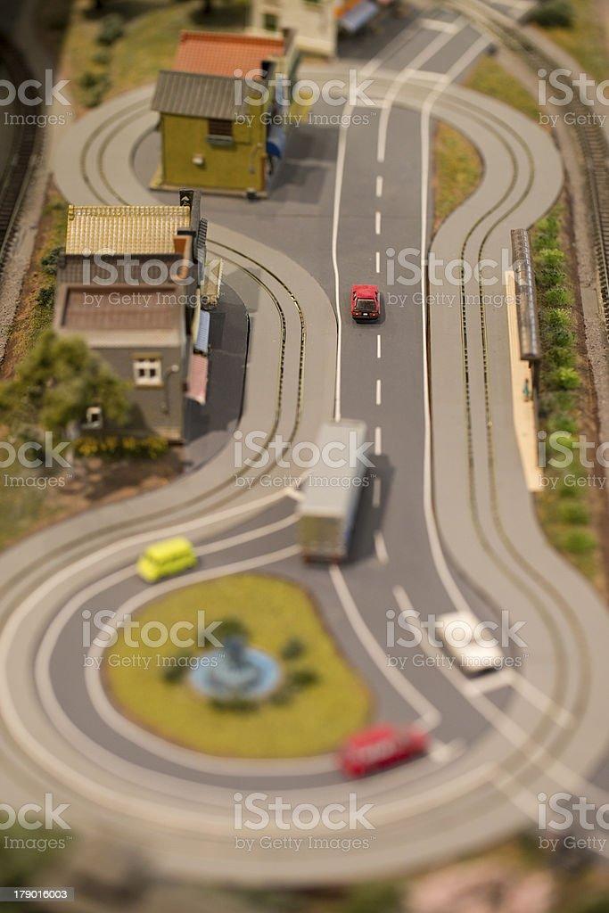 Model of Road Scene stock photo