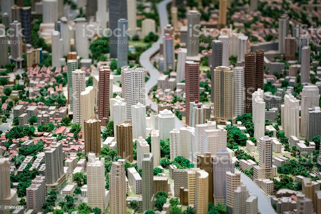 3D model of the Shanghai city stock photo