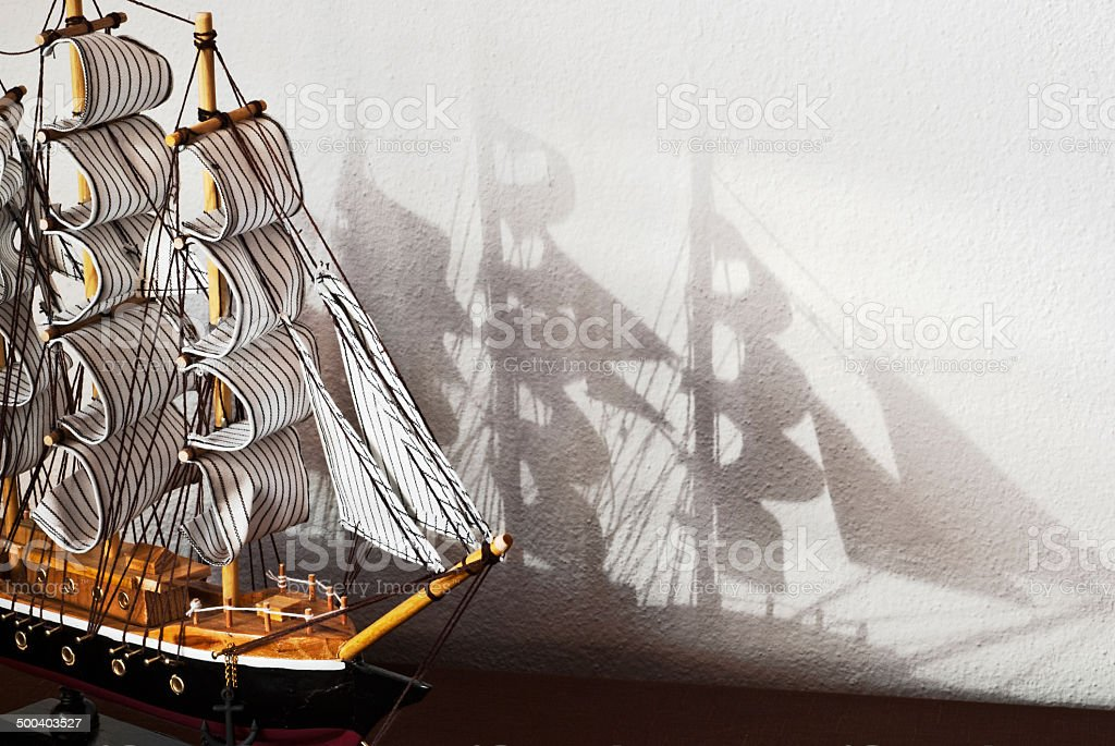 Model of the ship stock photo