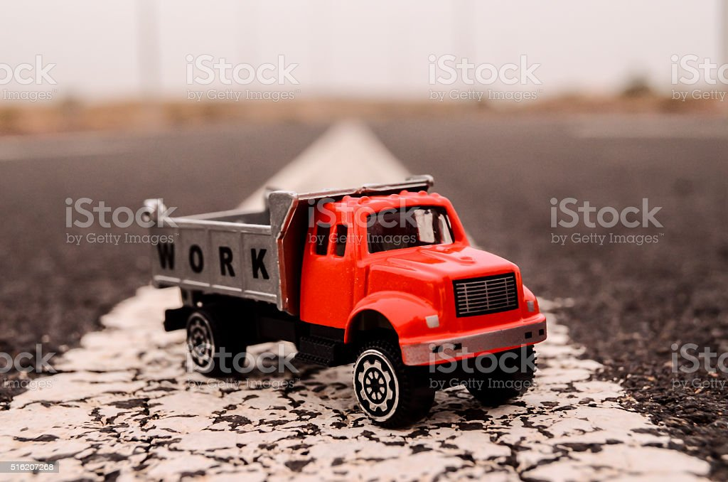 Model of the Truck stock photo