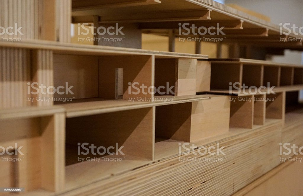 model of wood joints stock photo