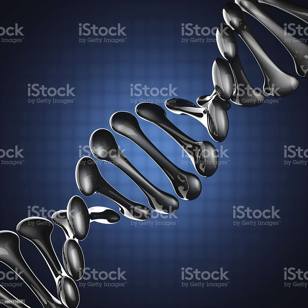 DNA model on blue background royalty-free stock photo