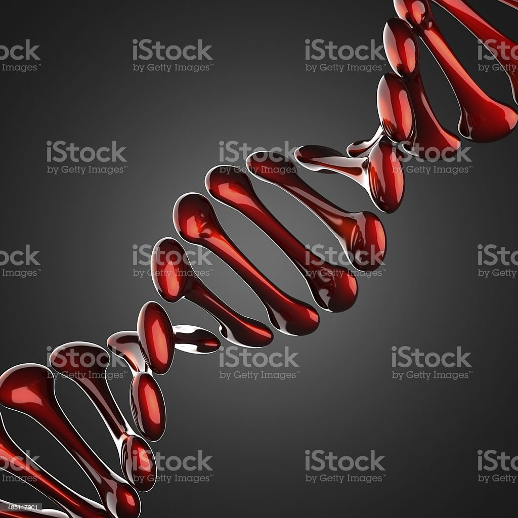 DNA model on gray background stock photo
