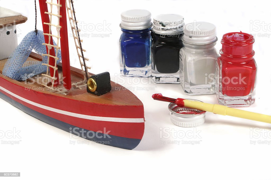 model painting royalty-free stock photo