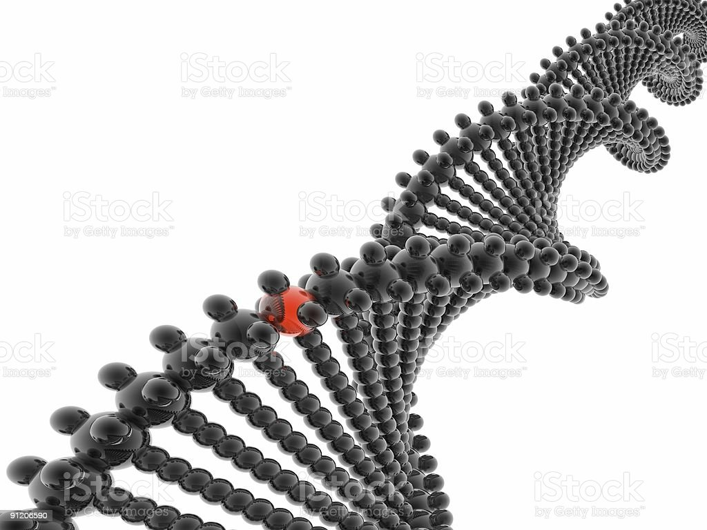 3D DNA model royalty-free stock photo