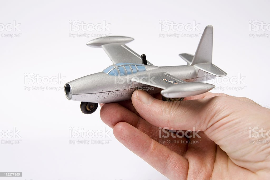 Model Plane In A Hand stock photo