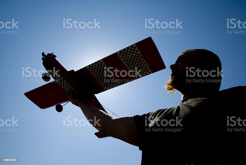 Model Plane Wind Test royalty-free stock photo