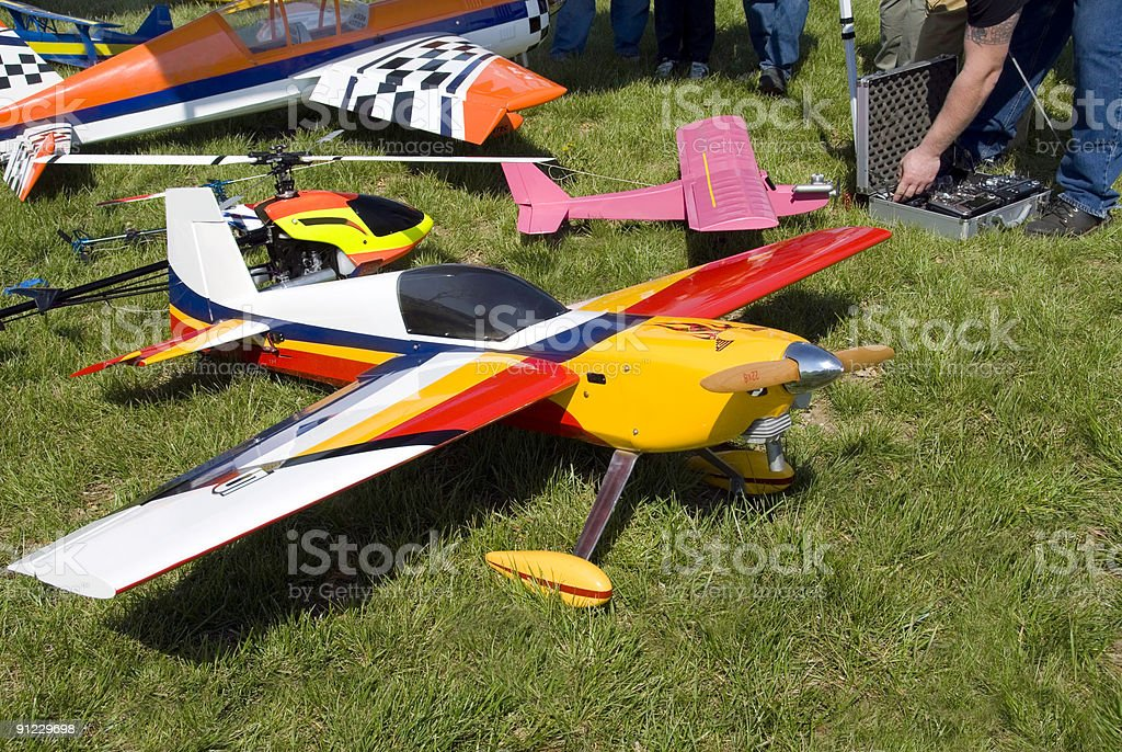 Model Planes on Display stock photo