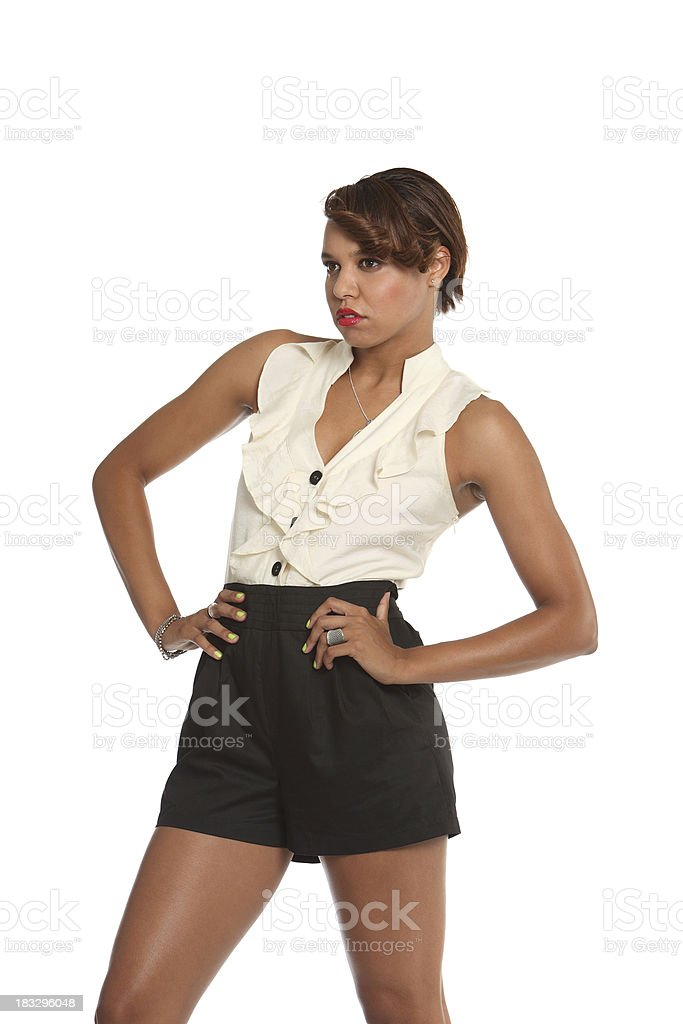 Model Posing Series stock photo