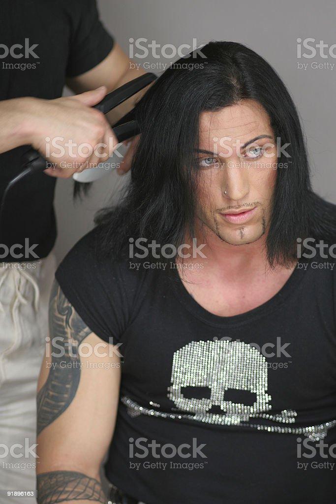 Model preparing royalty-free stock photo