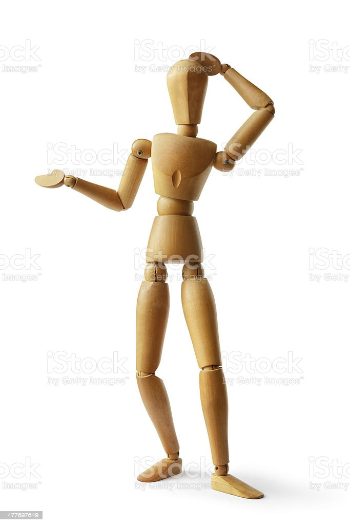 Mannequin: Question royalty-free stock photo