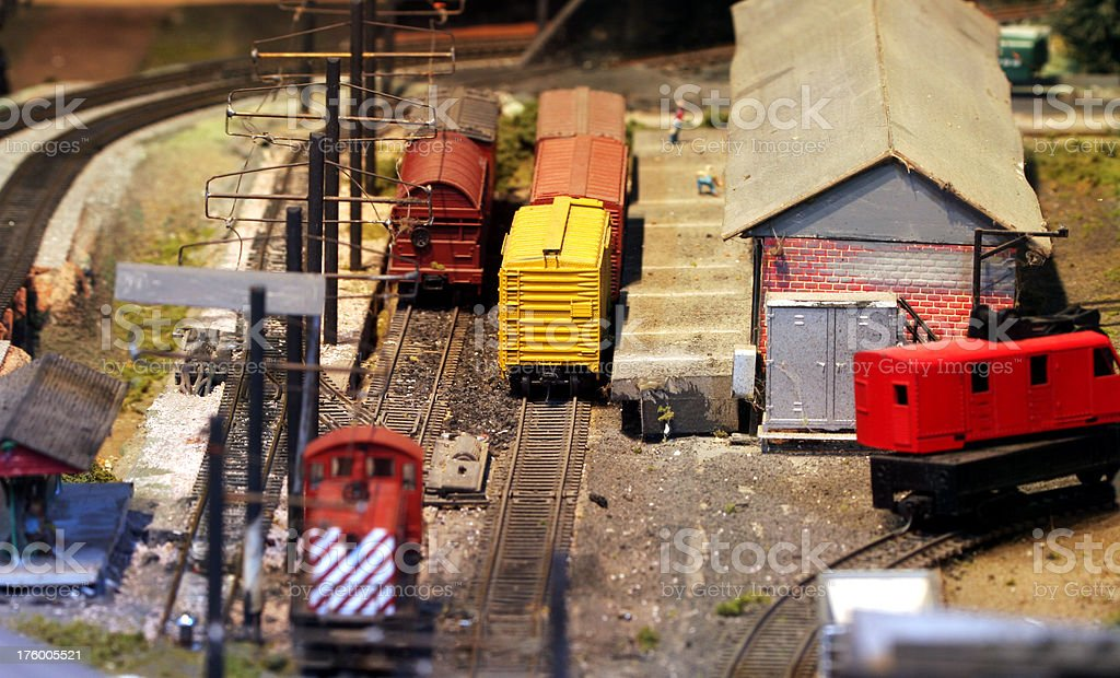 Model Railroad Closeup royalty-free stock photo