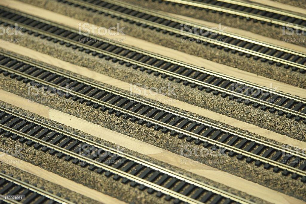 HO model railroad track stock photo