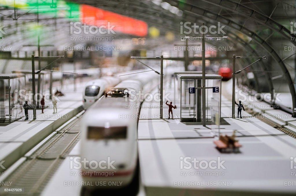Model Railway Train stock photo