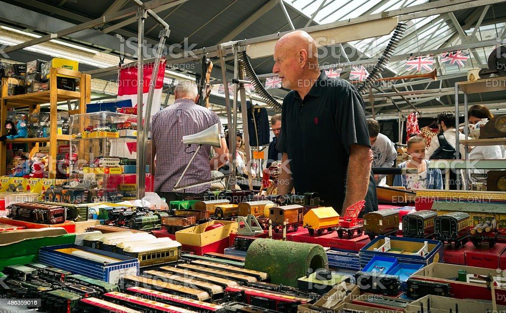 Model railways stall stock photo