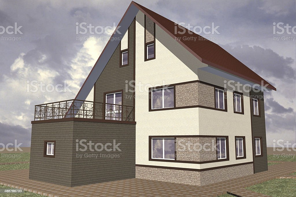 Model residential building stock photo