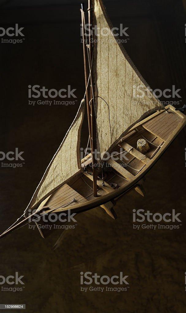 Model Sailboat. royalty-free stock photo