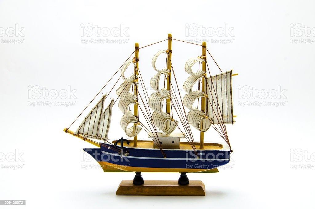 Model sailboat stock photo