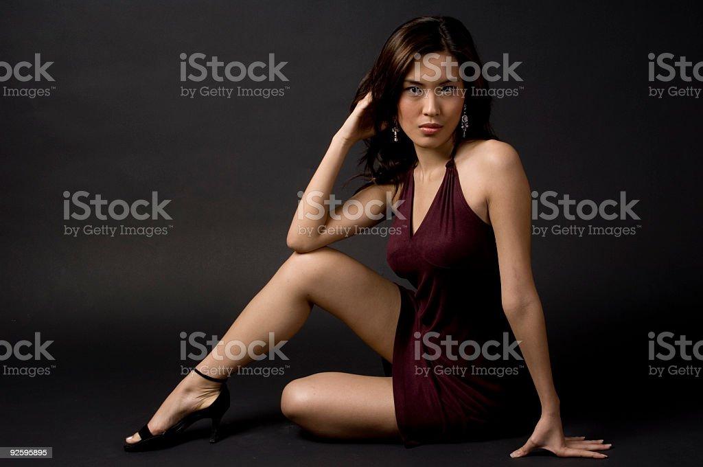 Model Sitting royalty-free stock photo