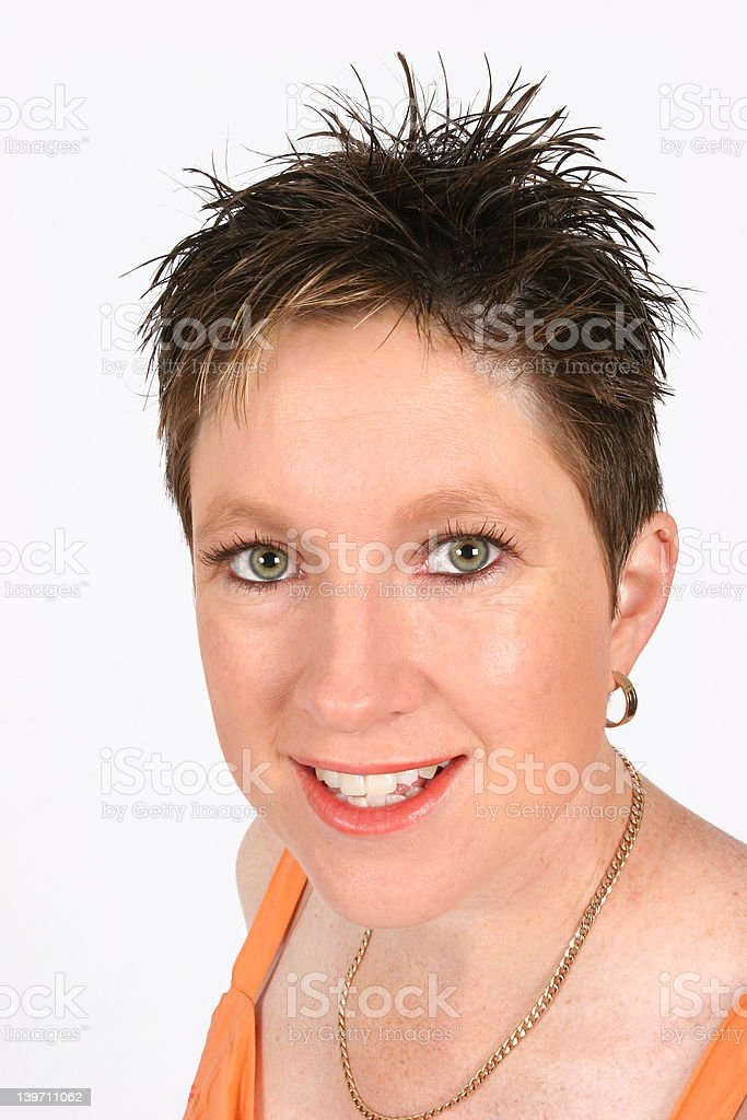 Model smiling at you royalty-free stock photo