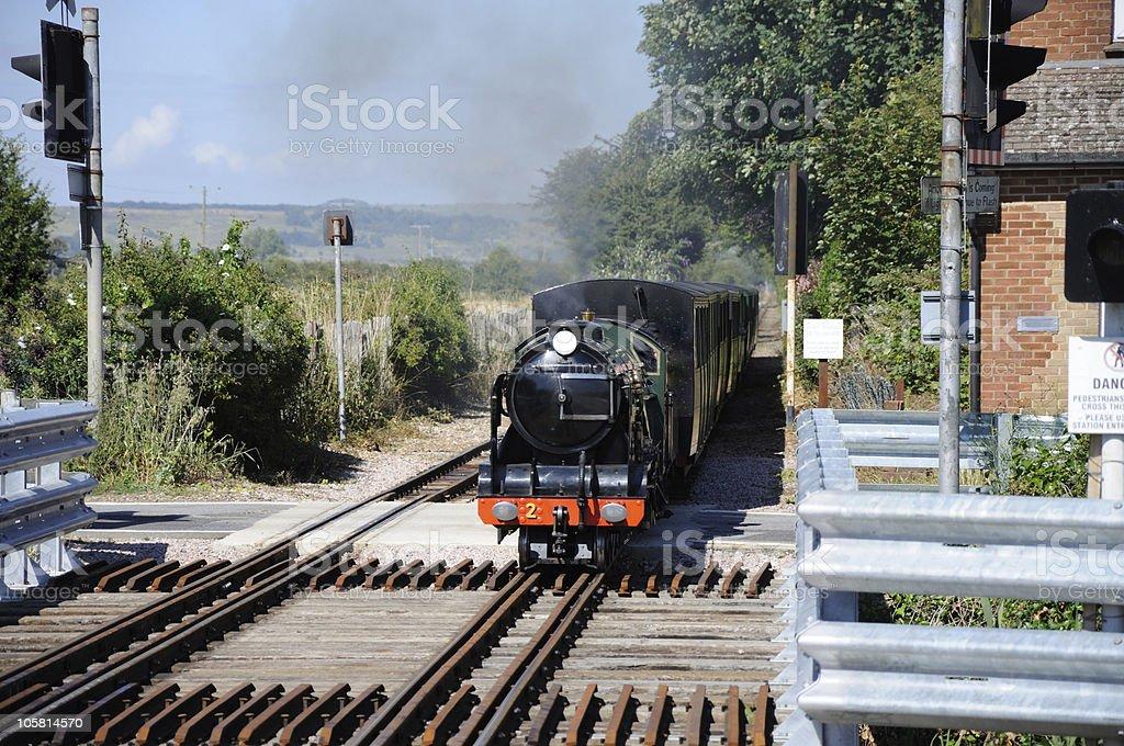 Model steam train stock photo