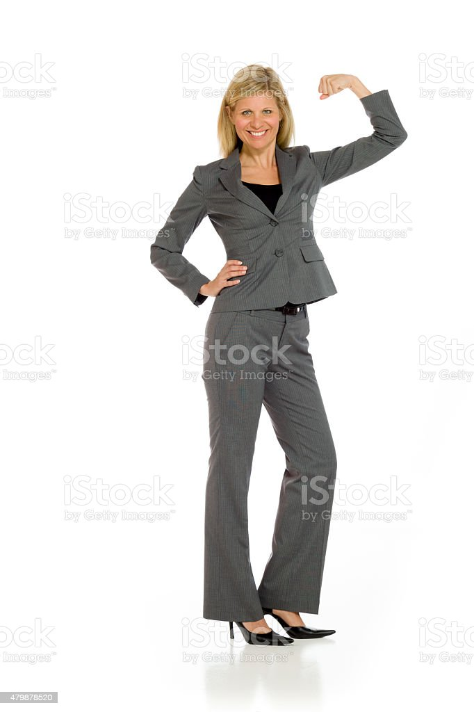 Model strength arm curl stock photo
