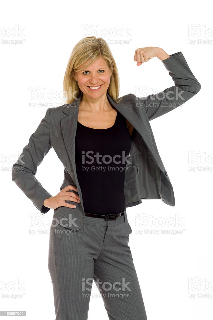 Model strength arm curl stock photo