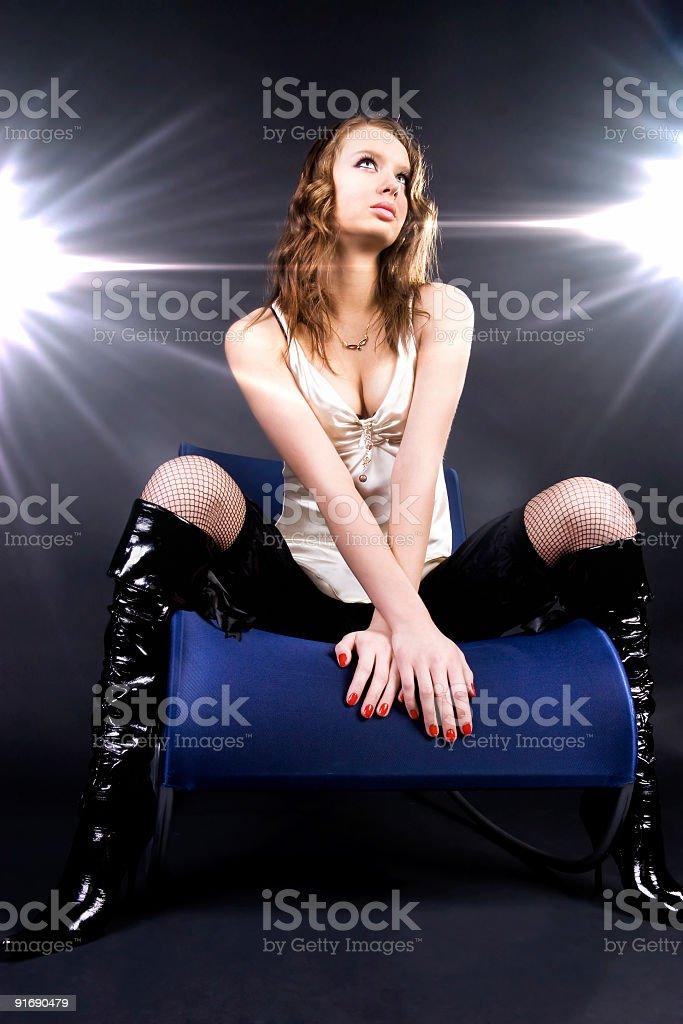 Model superstar royalty-free stock photo