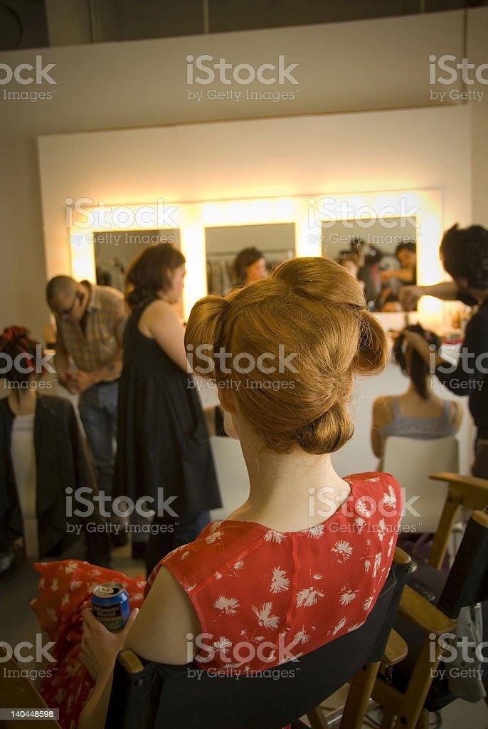 Model taking a break royalty-free stock photo