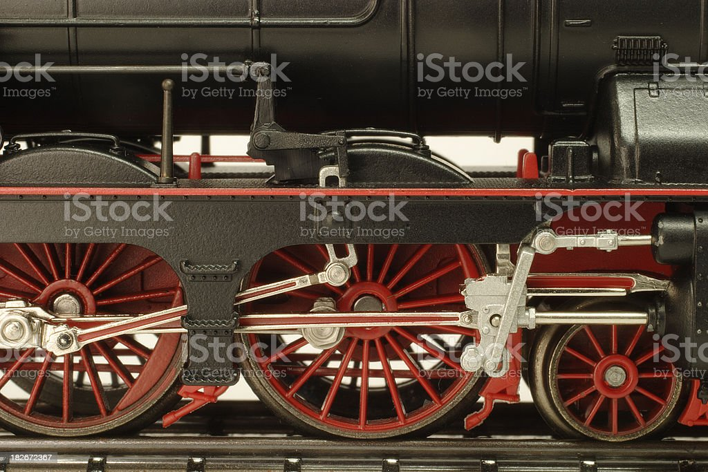 Model Train Close-up royalty-free stock photo