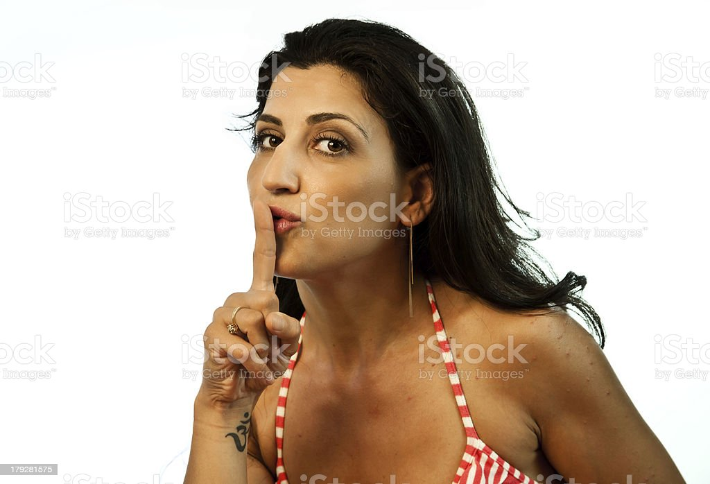 Model Wanting Silence royalty-free stock photo