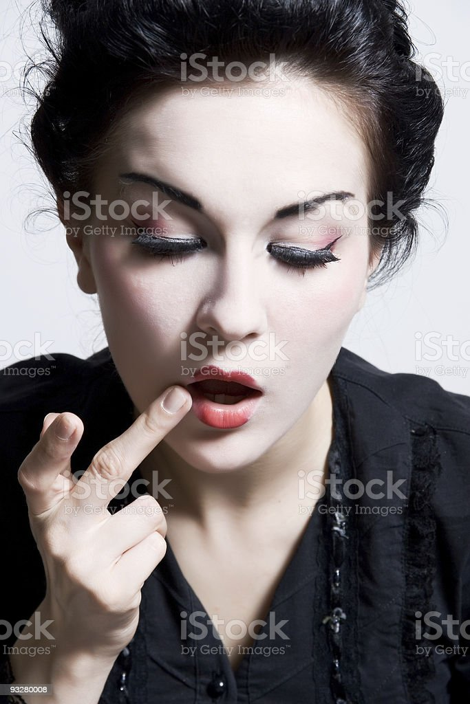 model while make-up royalty-free stock photo