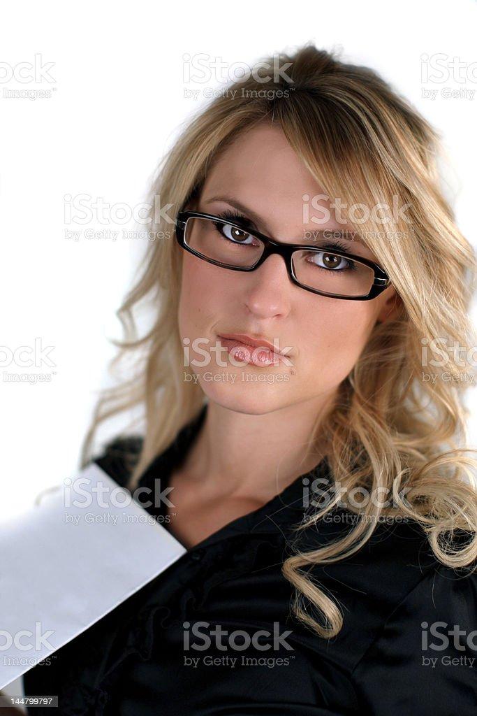 Modelo con gafas foto de stock libre de derechos
