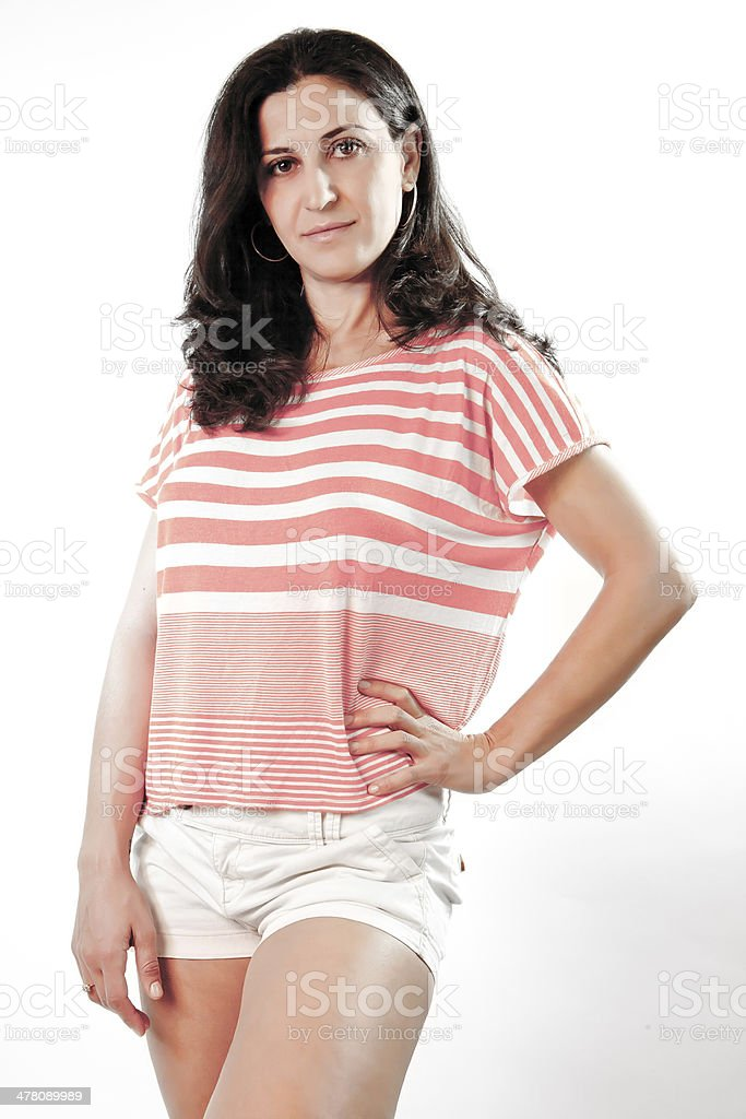 Model With Hand On Her Hip royalty-free stock photo