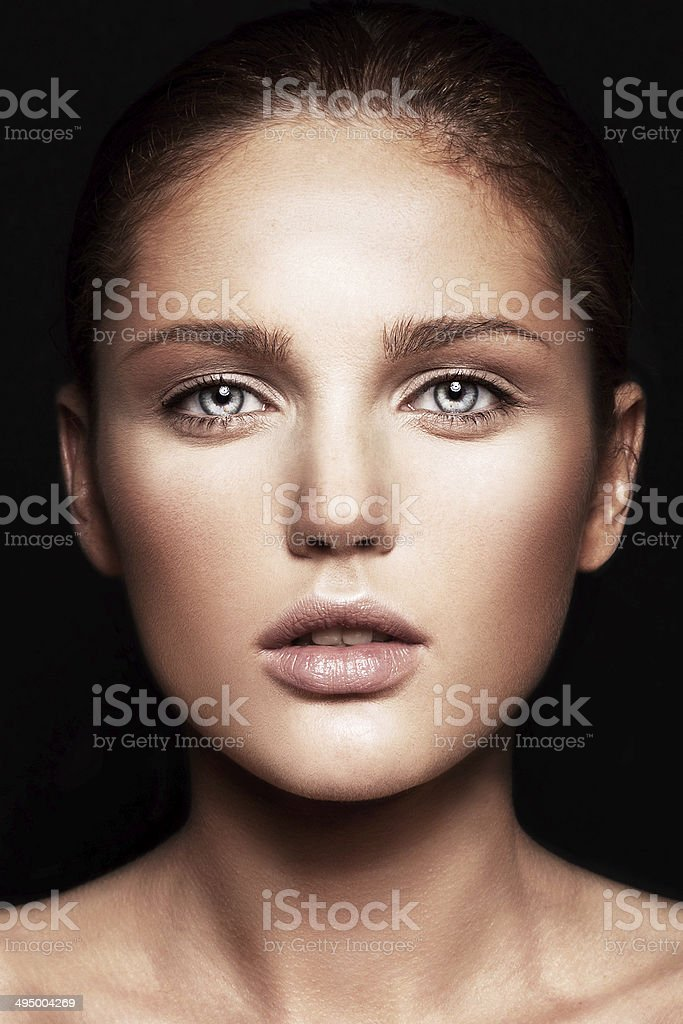 model with natural make-up stock photo