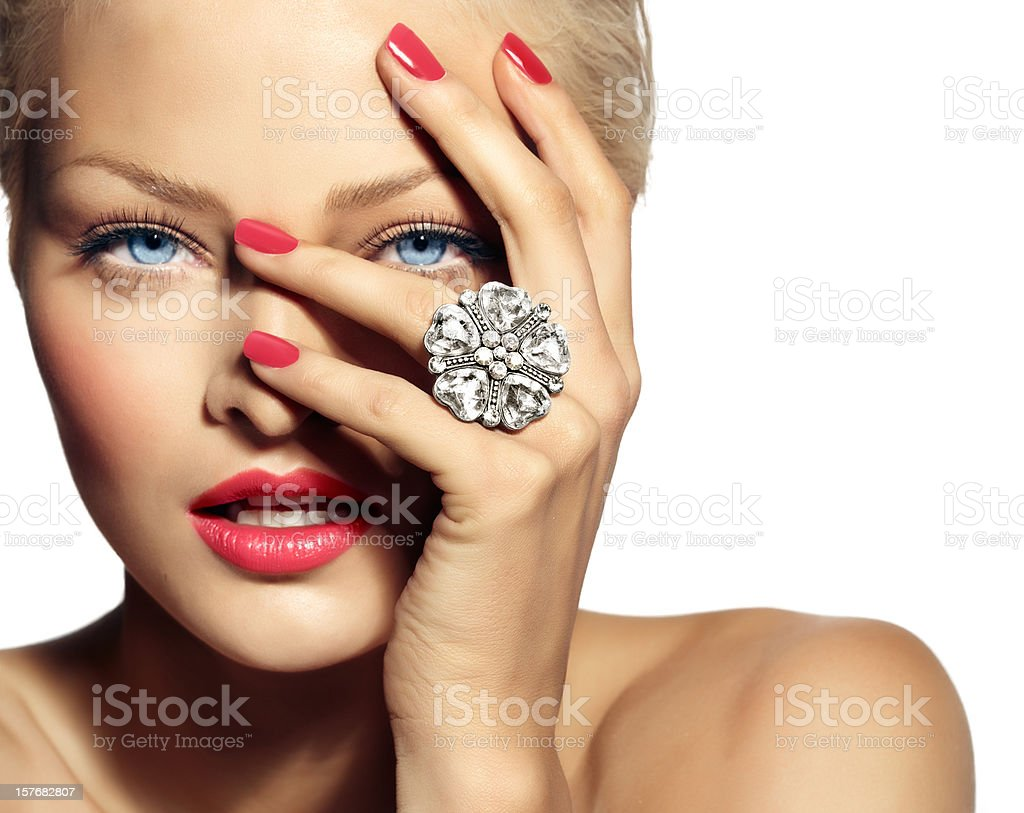 Model With Ring stock photo