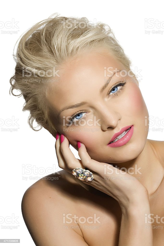 Model With Ring royalty-free stock photo