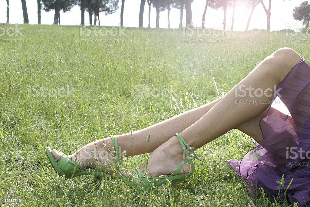 model with shoes stock photo