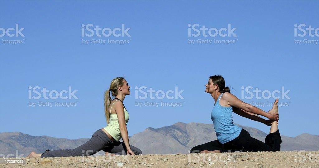 Model Yoga (Utah RedRockalypse) royalty-free stock photo
