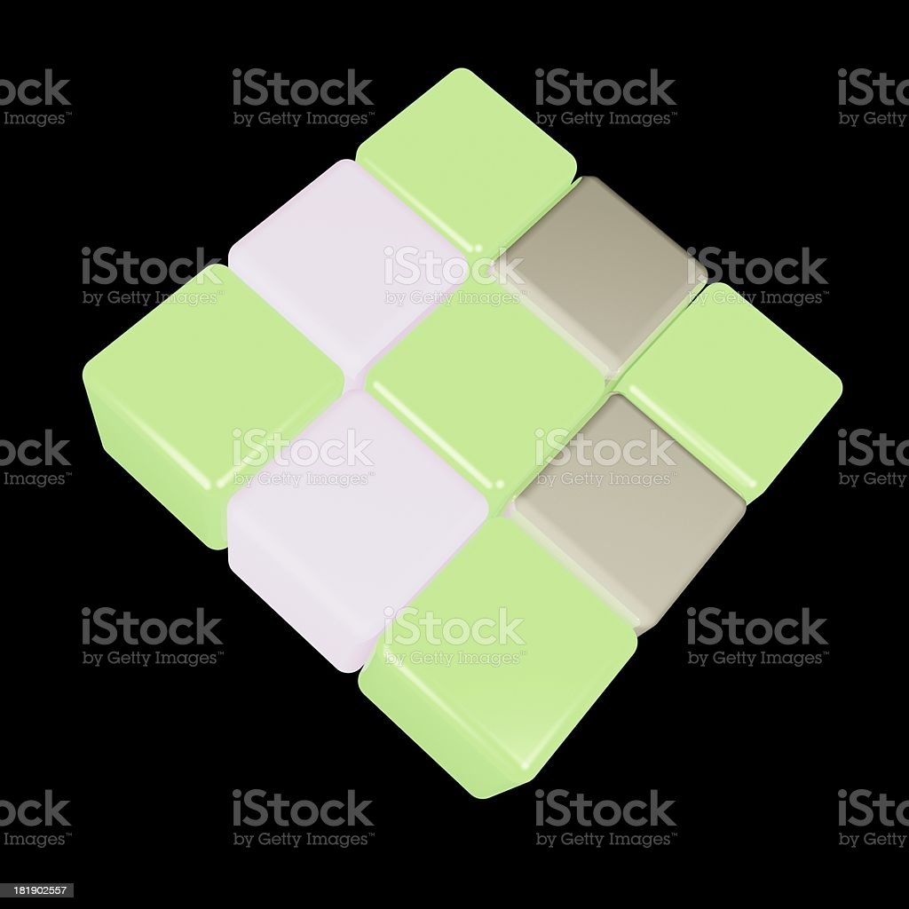 3D model,abstract cube background royalty-free stock photo